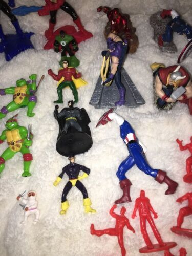 Mixed Super Hero Action Figure Lot Of 36 Marvel Ninjas Turtles Power Ranger WWE image 3