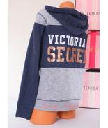 VS VICTORIA'S SECRET~ Black Logo~ Zip-Up Hoodie Hooded Jacket, Sz- XS X-... - $69.50