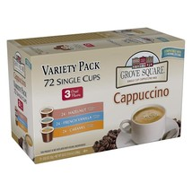 Grove Square Cappuccino Variety Pack 72 Single Serve Cups - $71.40