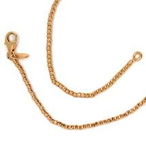 Cadena Oro Rosa 750 18K, Bolas Facetadas 1.5 mm, 40 45 o 50cm, Collar - $424.78+