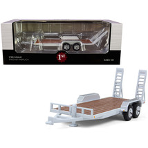Tandem-Axle Tag Trailer Oxford White 1/50 Diecast Model by First Gear 50-3422 - $34.49