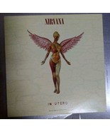 Nirvana In Utero Rare Lp Limited Clear Vinyl Us Edition - $294.99
