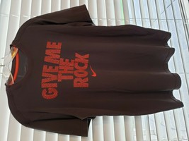 Nike Give Me The Rock Gray Orange Logo Dri Fit TShirt Mens Size Large  - $9.87