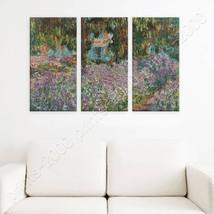 POSTER Or STICKER Decals Vinyl Irises In Monets Garden Claude Monet 3 Pa... - $20.05+