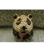 PANDA CRYSTAL RING SIZE 7. LOTS OF SHINE. (NEW) - $29.00