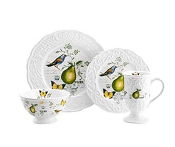 Mikasa Antique Countryside Pear 4-Piece Place S... - $46.39