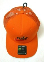 Nike Classic 99 Unisex logo Mesh Trucker Hat Safety Orange Black NWT Shi... - $27.67