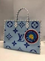 Louis Vuitton Onthego Tote Giant Blue Monogram Bag Capri Le 2019 On The Go - $4,662.90