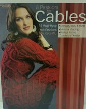 A Passion For Cables Knitting Pattern Book 14 projects - $9.89