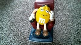 -168- M&M's Yellow Lazy Boy Chair Recliner Candy Dispenser 1999 - $25.20