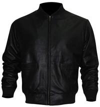 Rocky Balboa Black Tiger Bomber Leather Jacket image 3