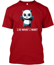 Cool I Do What Want Angry Panda - Hanes Tagless Tee T-Shirt - £17.56 GBP