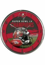 Tampa Bay Buccaneers Super Bowl LV Champions Chrome Wall Clock - $31.67