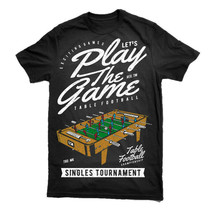 Table Football T Shirt Design Men S Blue Silhouette Claret Black S-3XL - $13.44+