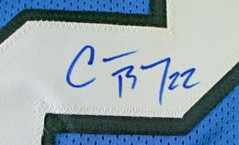 CHRISTIAN MCCAFFREY / AUTOGRAPHED CAROLINA PANTHERS CUSTOM FOOTBALL JERSEY / COA image 4