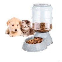 Gravity Pet Feeder Food Meals 6 Lb Capacity Easy Clean Puppies Dogs Auto... - $19.78