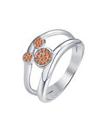 30ct Round Orange Sapphire 14k White Gold Over.925 Silver Cute Mickey Mo... - $69.35