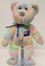 TY Beanie Buddy KIWIANA Bear Asian Pacific Exclusive Stuffed Animal Toy Rainbow - $16.82