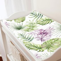 Carousel Designs Purple Painted Tropical Changing Pad Cover - $30.69