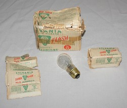 8 Vintage Sylvania No. O Super Flash Safety Spot Camera Photography Flashbulbs - $15.79