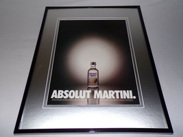1999 Absolut Martini Vodka 11x14 Framed ORIGINAL Vintage Advertisement - $32.36