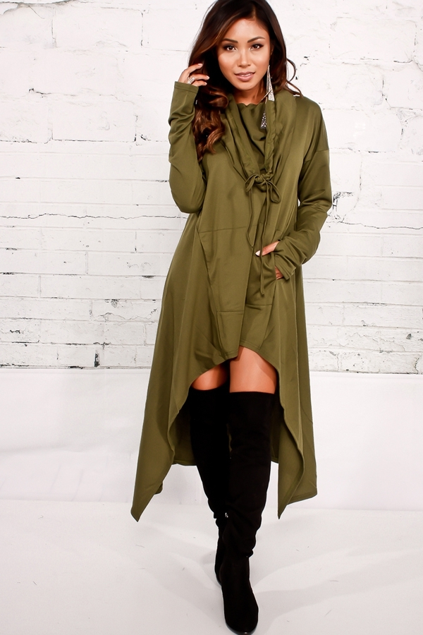 Primary image for Fall In Love Hoodie Olive