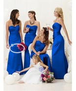 Satin pleated Mermaid Bridesmaid Dresses at Bling Brides Bouquet - Onlin... - $149.99