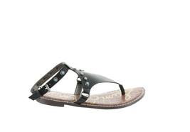 Sam Edelman Galena Ankle-Strap Leather Sandal Studs BLACK 6M NEW 597-055 - $74.23