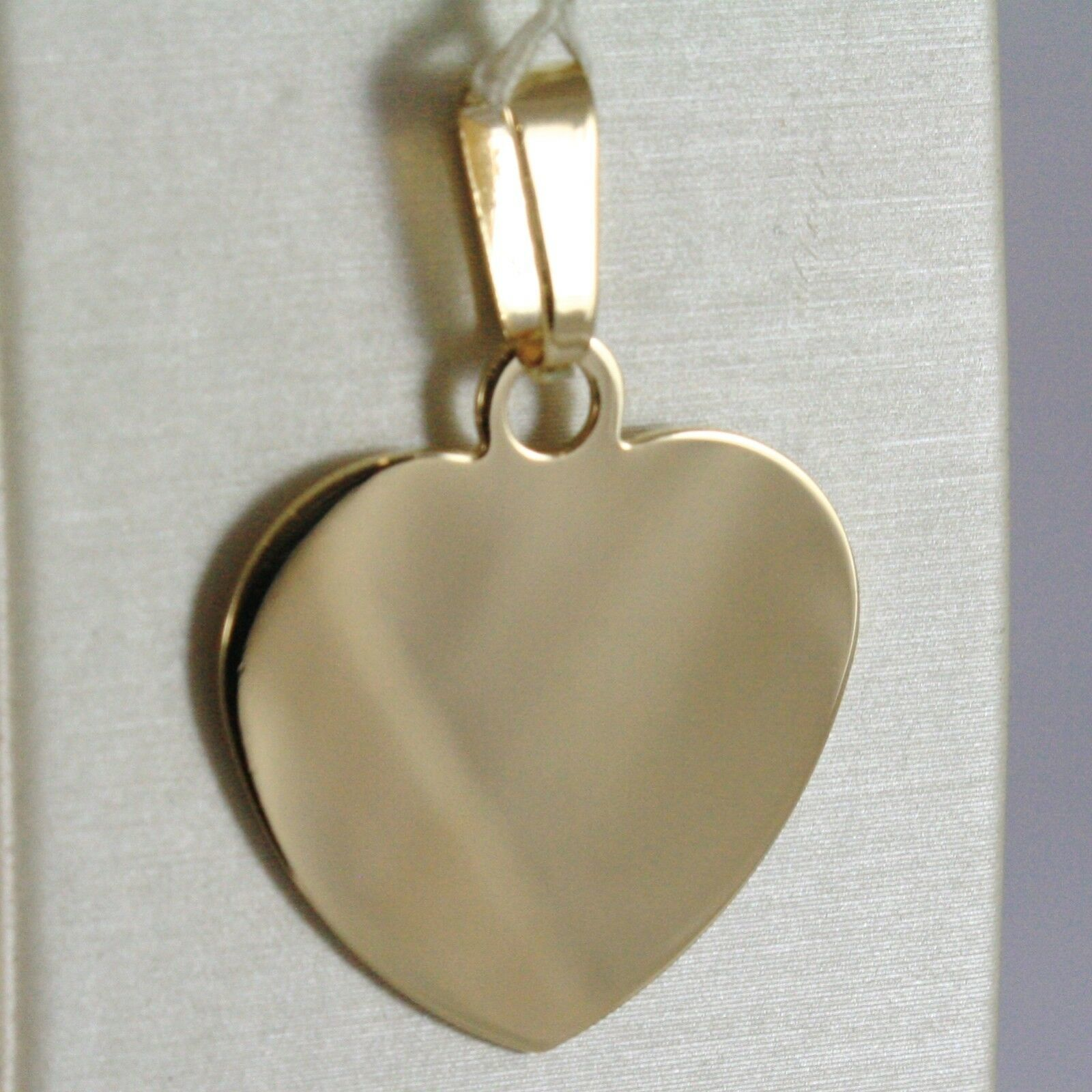 18K YELLOW GOLD HEART, PHOTO & TEXT ENGRAVED PERSONALIZED PENDANT 22 MM, MEDAL