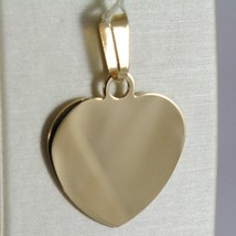 18K YELLOW GOLD HEART, PHOTO & TEXT ENGRAVED PERSONALIZED PENDANT 22 MM, MEDAL image 1
