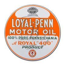 Loyal-Penn Motor Oil Royal 400 Product Reproduction Circle Aluminum Sign - $16.09