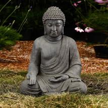Garden Buddha Statue Outdoor Backyard Calming Yard Sculpture Patio Decor... - $69.29