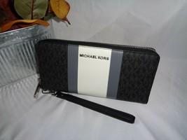 MICHAEL KORS JET SET LARGE TRAVEL CONTINENTAL MK CLUTCH WALLET WRISTLET ... - $78.71