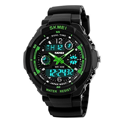 Kids Digital/Analog Watches Waterproof Sports Multi-Functional Wristwatch with A