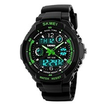 Kids Digital/Analog Watches Waterproof Sports Multi-Functional Wristwatch with A image 1