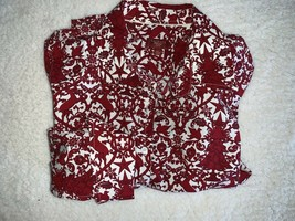 Talbots Top Haberdashery Womens 6 Petite 6P Button Christmas Reindeer Ho... - $24.72