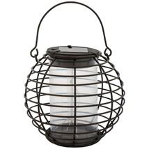 GZL SOFT GLOW, AMBIENT Solar GLOBE LANTERN w/on-off switch. Hang or set ... - $8.42