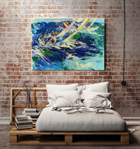 """Leroy Neiman """"Sea Boat Surfing"""" HD Canvas Print large wall picture 34x24"""" - $51.47"""