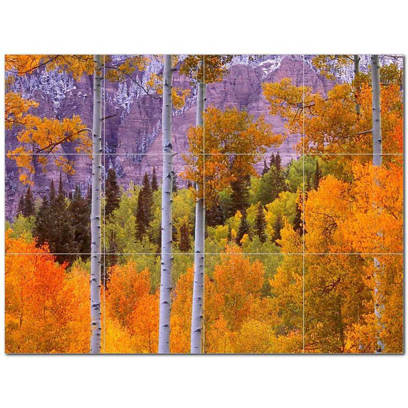 Primary image for Trees Leaves Ceramic Tile Mural Kitchen Backsplash Bathroom Shower BAZ406055