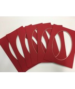 Picture Frame Mats set of 12 mats 5x7 for 4x6 photo Red - $9.99
