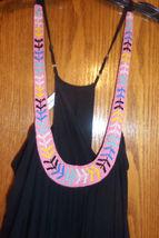 $348 MARA HOFFMAN ANTHROPOLOGIE BEADED BLACK LONG CAFTAN DRESS SIZE XS/S image 5