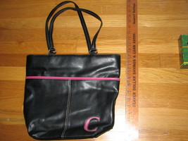 New! Liz Claiborne Accessories Black And Pink Purse Handbag - Very Sharp Looking - $16.95