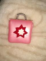 Barbie Pink soft Plastic Purse with felt star... Broken handle - $7.91