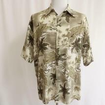 Campia Moda Hawaiian Aloha Shirt 100% Rayon Mens Sz LT - $19.26