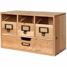 Wooden Desktop Drawers Cabinet Storage Craft Supplies Office Classrom It... - $63.77