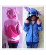 Disney Kigurumi Lilo & Stitch blue Angel hoodie cosplay coat jacket New - £8.06 GBP