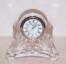 """Stunning Signed Waterford Crystal Beautifully Cut 3 5/8"""" Clock - $37.86"""