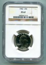 1962 WASHINGTON QUARTER NGC PF67 PROOF NICE ORIGINAL COIN SUPER PREMIUM ... - $22.00