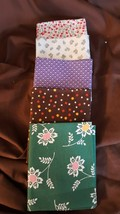RJR Everything But Kitchen Sink Retro 1930's Fabric 5 Fat Quarters Green... - $9.99