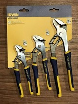 New Irwin Tools VISE-GRIP Groove Joint Pliers Set 3-Piece 1773638 - $27.47